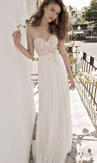 dress bustier dress bustier wedding dress wedding dress prom dress lace dress lace strapless dress long dress white dress corset wedding wedding clothes