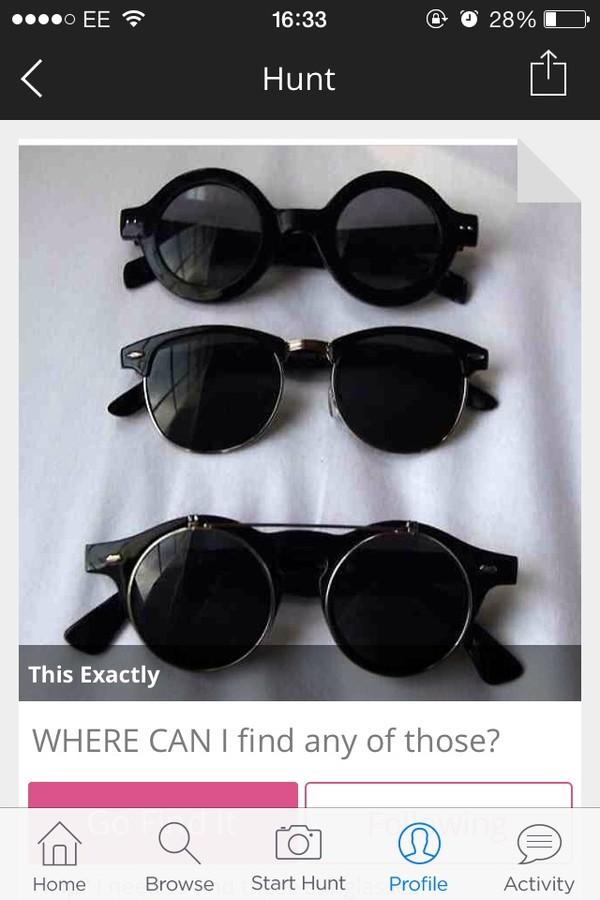 sunglasses rayban rad black round