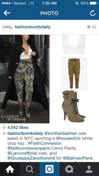 coat kim kardashian pants