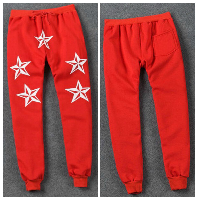 Red 5 star joggers · magnifique palette ·