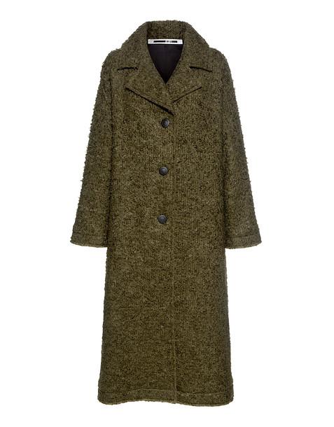 McQ Alexander McQueen coat oversized wool green