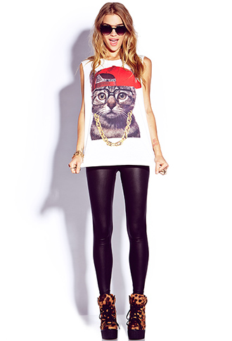 Street-Style Kitty Tee | FOREVER21 - 2000076214
