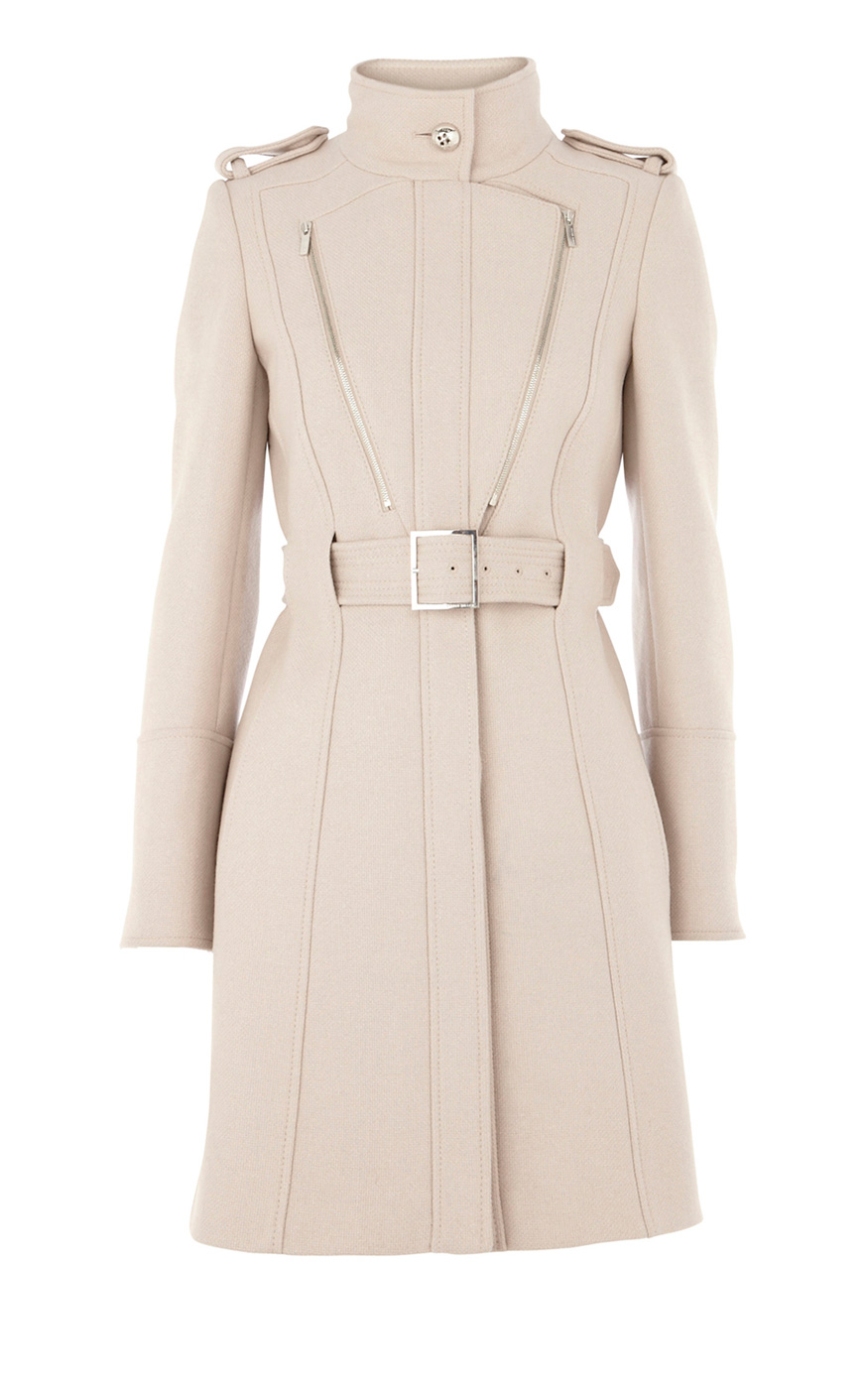Women karen millen wool stone coat uk in spring