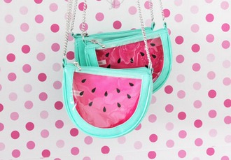 bag kawaii lovely japanese fashion watermelon print mint gyaru weird kawaii bag