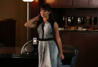 lea michele grey dress