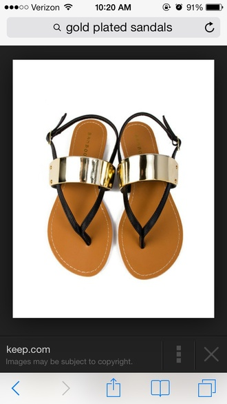 shoes gold gold plate sandals gold flat sandals