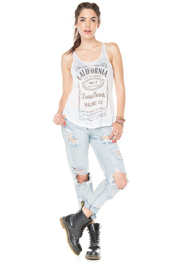 Brandy ♥ Melville |  Kay Zuma Beach Tank on Wanelo