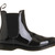 Dr. Martens Kensington Faun Chelsea Boot Black Patent Leather - Ankle Boots