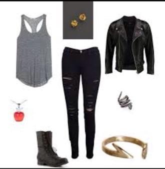 jeans black distressed skinny jeans tank top