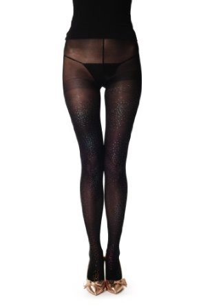 Black opaque pantyhose (tights) at amazon women's clothing store: pantyhose with glitter