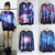 WOMEN'S GALAXY SPACE STARRY PRINT LONG SLEEVE TOP ROUND T SHIRT on The Hunt