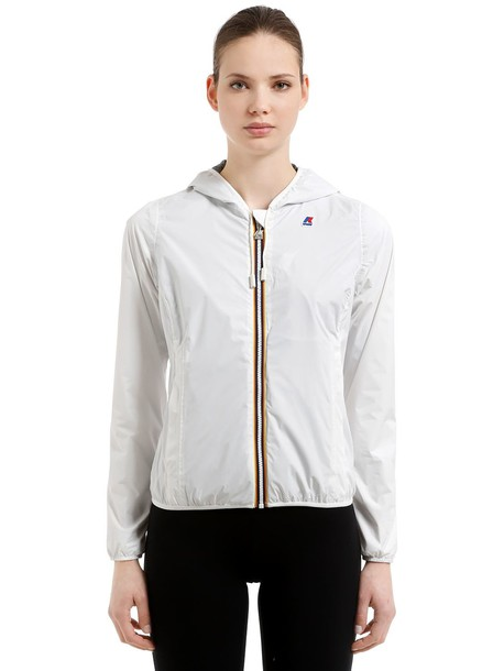 K-WAY Lily Hooded Jersey Jacket in white