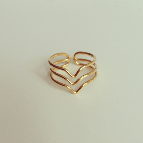 louun — Triple Wire Gold Ring