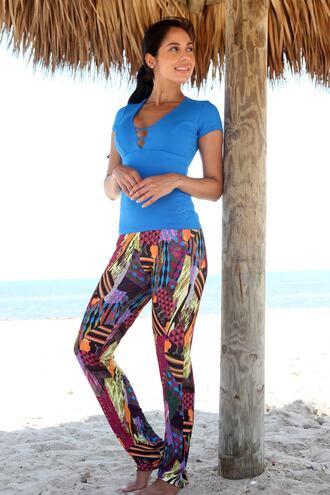 pants bottoms print equilibrium leggings bikiniluxe