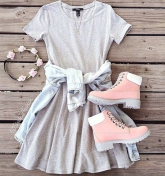 shoes pink shoes dress blouse