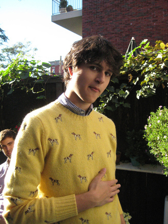 sweater ezra koenig ralph lauren ralph lauren sweater jumper dog yellow