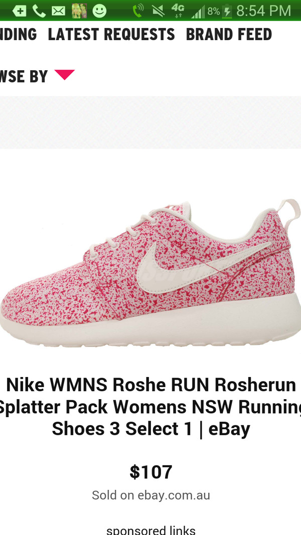 shoes pink nike roshes