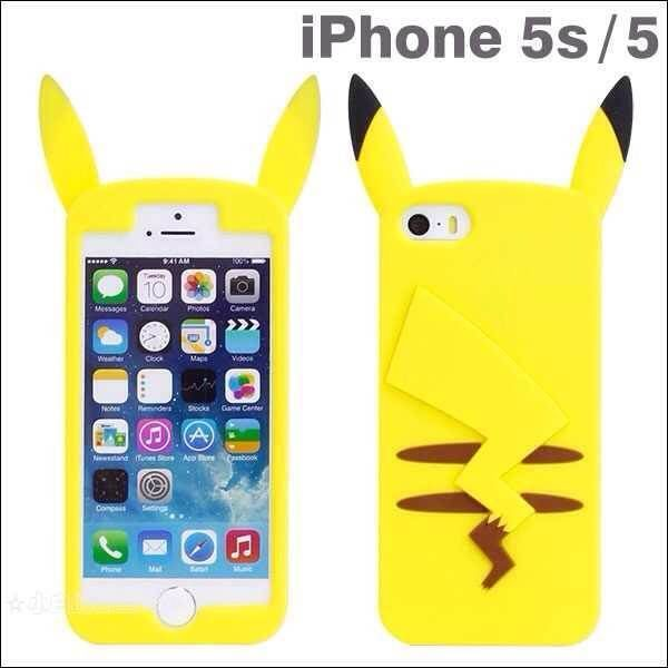 POKEMON PIKACHU IPHONE 3D GEL CARTOON MANGA ANIME CUTE SILICONE CASE COVER