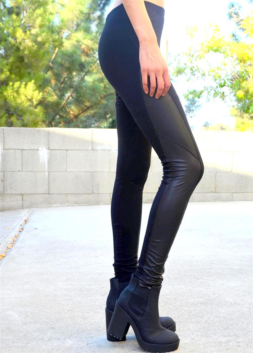 Leather side leggings – shopcivilized