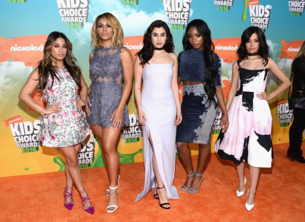 dress gown prom dress mini dress camila cabello Dinah Hansen Dinah Jane Hansen lauren jauregui Ally Brooke lace dress Normani Hamilton Fifth Harmony