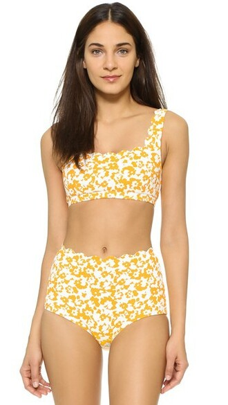 bikini bikini top sporty print swimwear