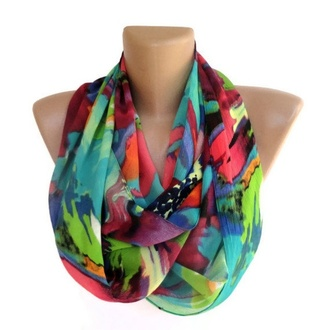 scarf infinity scarf eternity scarf neon summer top fashion girly gift ideas trendy etsy infinite loop scarf women's lovely gift scarves scarves scarves girl women summer 2013 spring 2013 @seno cute fashion scarf accessory accessories cowl cowl neck 2013 scarf trends spring outfits