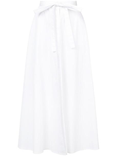 Rosetta Getty skirt wrap skirt women white cotton