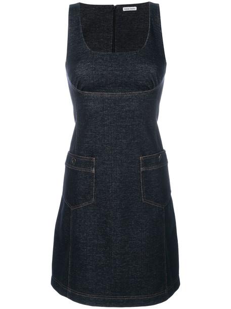dress denim dress denim women spandex cotton blue knit