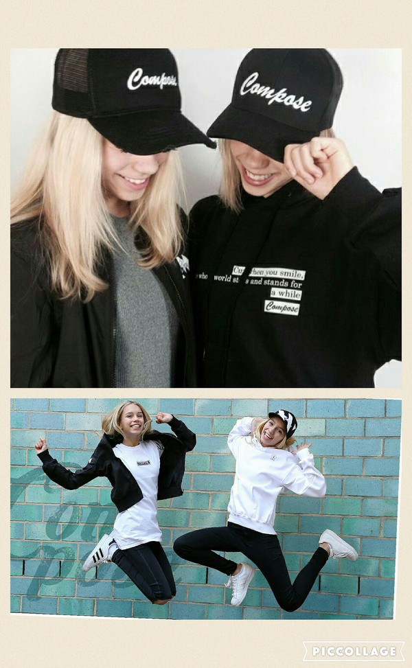 top lisa and lena brand compose black sweater white sweater jumper black