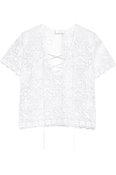 Miguelina top lace top lace cotton white