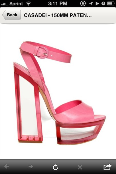 shoes heels pumps platform shoes pink clear heel