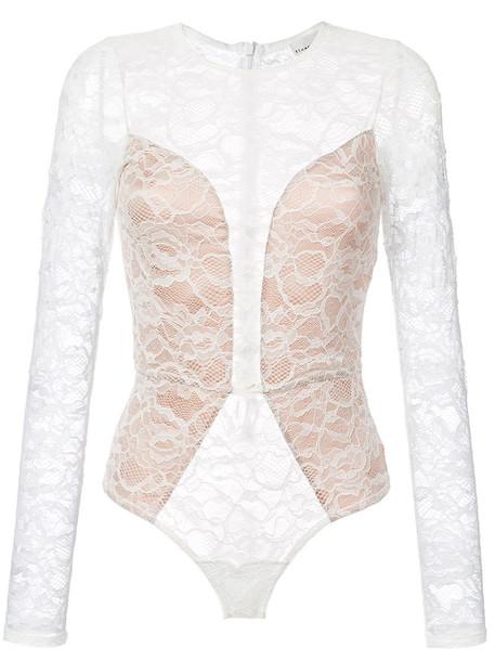 bodysuit women spandex lace white underwear
