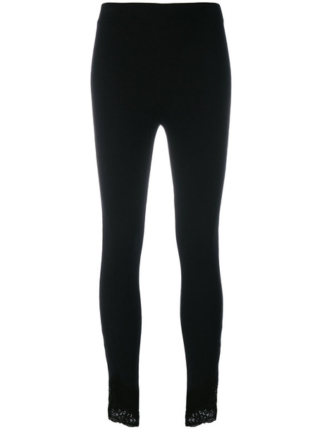 Ermanno Scervino leggings women lace black pants