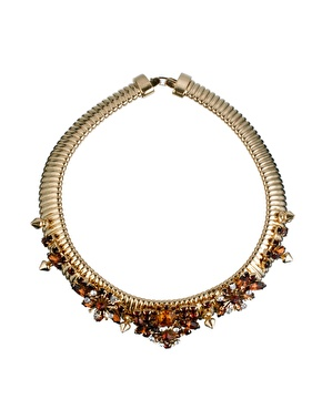 ASOS | ASOS PREMIUM Golden Girl Choker Necklace at ASOS