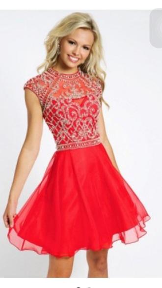 dress red dress chiffon halter neck