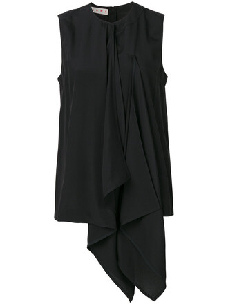top women black silk