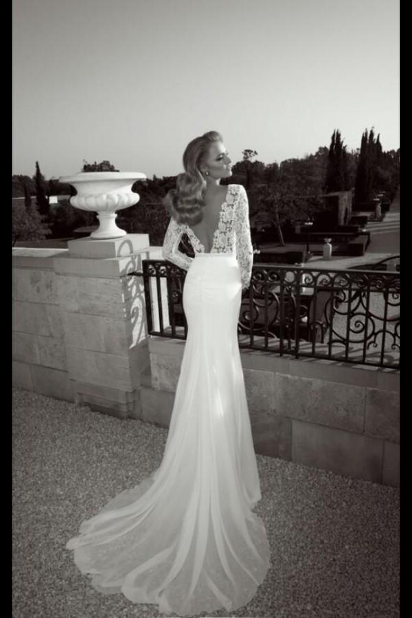 dress prom dress lace dress backless dress elegant dress lace wedding dress