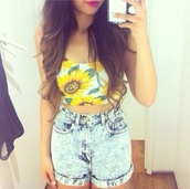 shirt,flowers,shorts,tank top,sunflower,floral,pls,van gogh,the shorts are pretty cool too,other awesome stuff