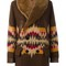 Ralph lauren aztec pattern coat, women's, size: small, brown, cotton/buffalo leather/wool/lamb fur