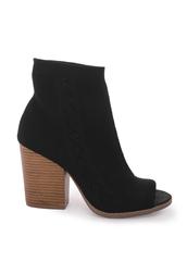 shoes,black,peep toe,flyknit,booties