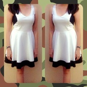 dress,white dress with black lining from guess