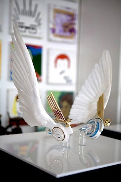 earphones angel wings wing white headphones