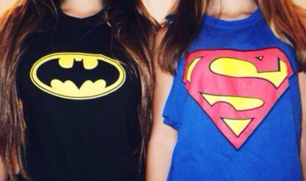 superman batman shirt