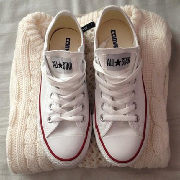 shoes allstars chucks converse shoes all white whiteout