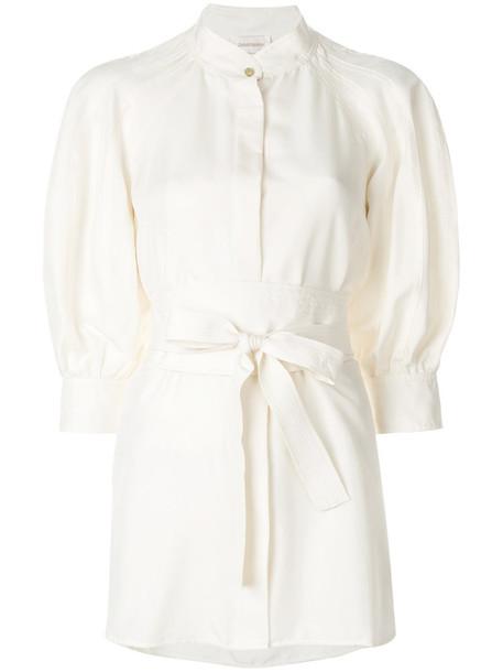 Zimmermann dress shirt dress women nude silk