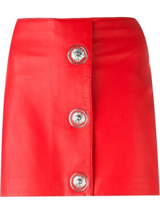 skirt mini skirt mini red