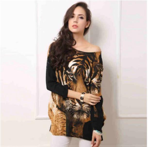 dress short dress tiger dress