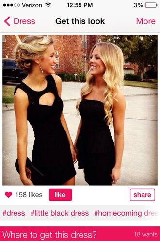 dress little black dress black prom dress skin-tight open back dresses open front jet black semi formal blonde hair