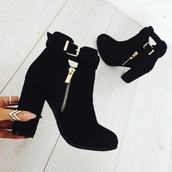 shoes,black,booties,black booties