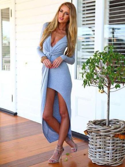 long sleeves long dresses cotton dress casual dresses casual dress daily dress ootd dress ootd vneck dress maxi dress long sleeve dress